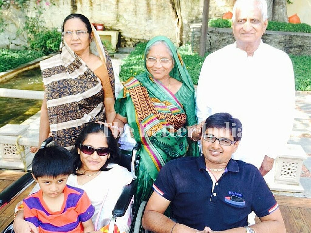Kalpesh's family has been his biggest support.