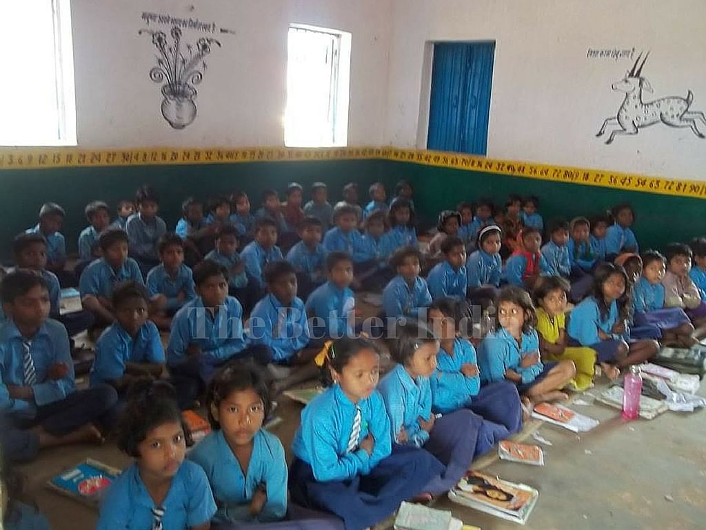 Madan's school accommodates students from two villages.