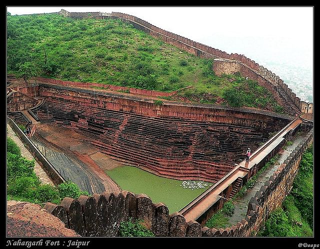 The water reservoir in Nahargarh Fort, Jaipur