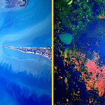 south india from space