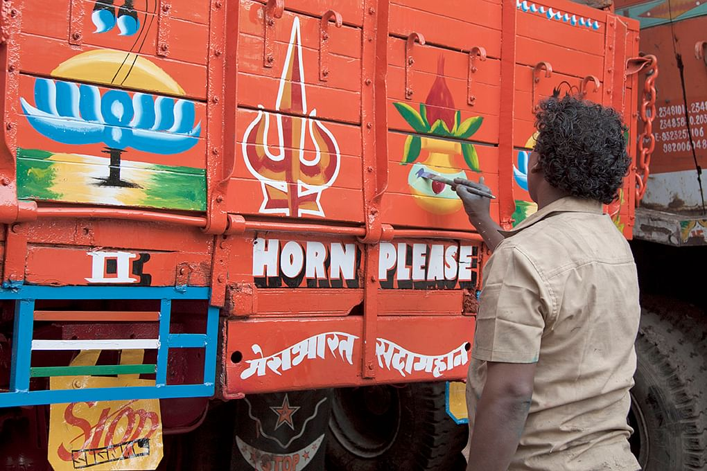 He has been decorating trucks since he was 15