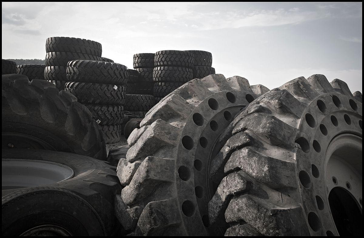 tyres lying around