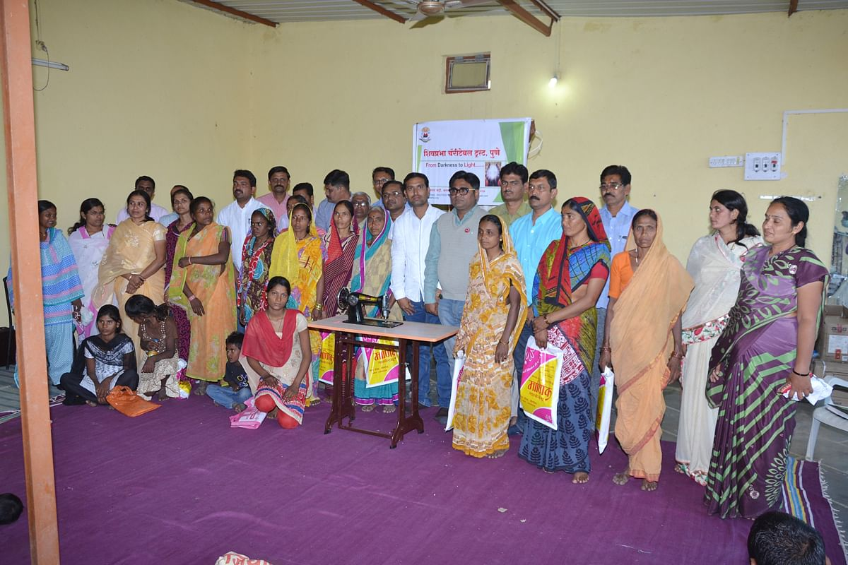 6.Sewing Machine distribution to 10 farmer widows at Shegaon