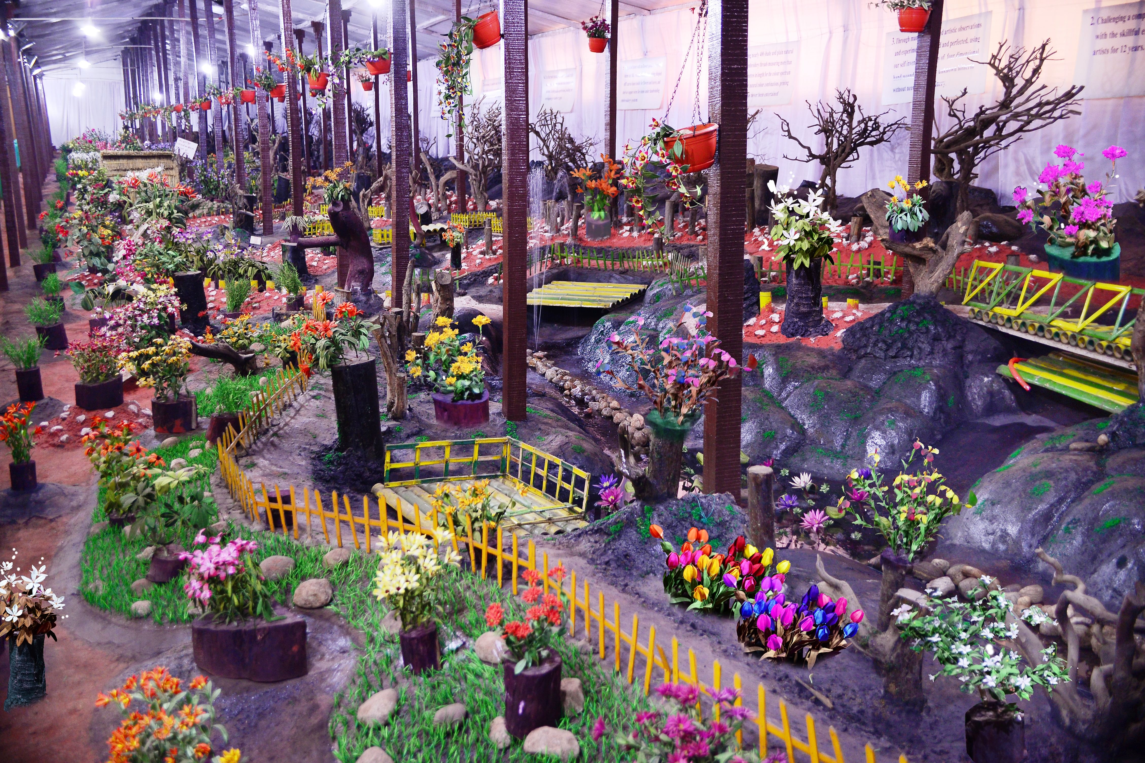This one of its kind evergreen garden. Photo credit: Thread Garden
