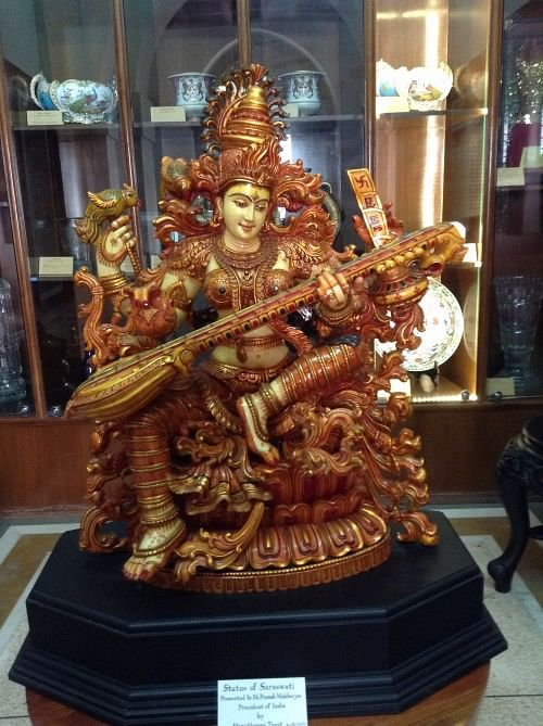 A recent gift - the Statue of Saraswati from West Bengal