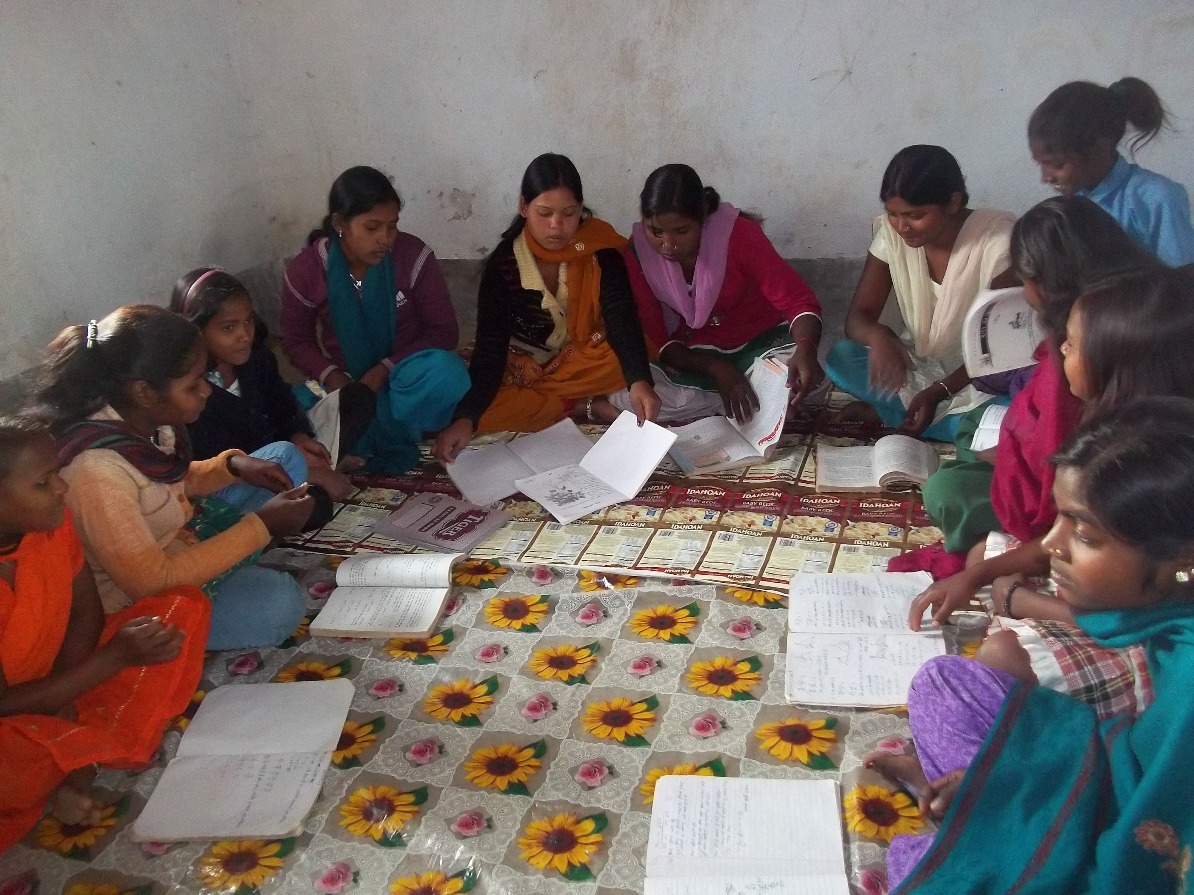 Sweta Devi, (fifth from left) a graduate in Rural Development, takes her role as a health volunteer very seriously. (Credit: Saadia Azim\WFS)