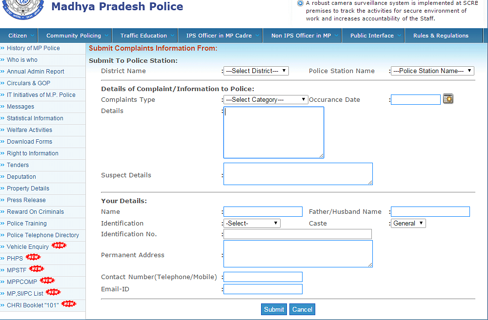Filing an fir online has been made easy by these states users have to provide details about the district and police station type of complaint suspects information etc personal details are also spiritdancerdesigns Images