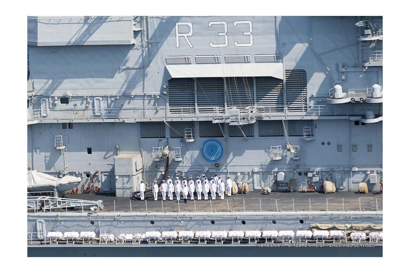 Navy posing