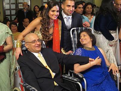Girish Gogia with his wife, Eesha