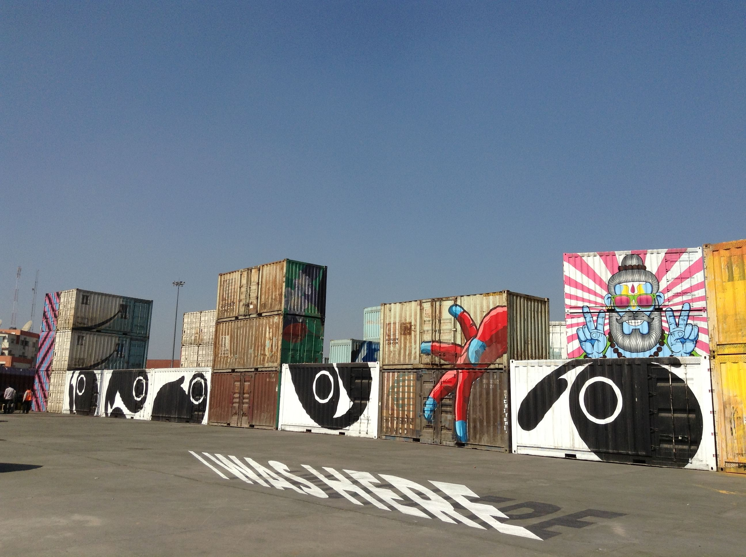Paintings on the shipping containers are indeed a sight to behold