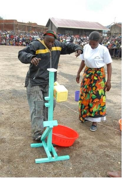 hand washing station with pedal_rwanda-africa