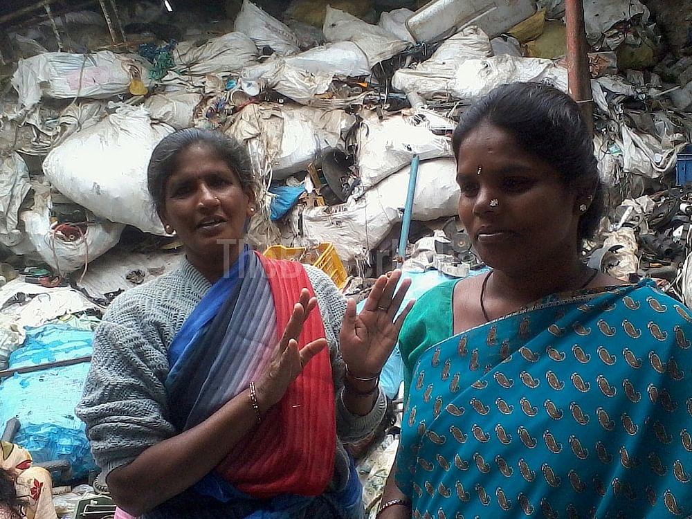Waster pickers at Radio Active