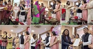 Akhilesh Yadav bestows the Rani Laxmi Bai Bravery Award to women of courage on March 8