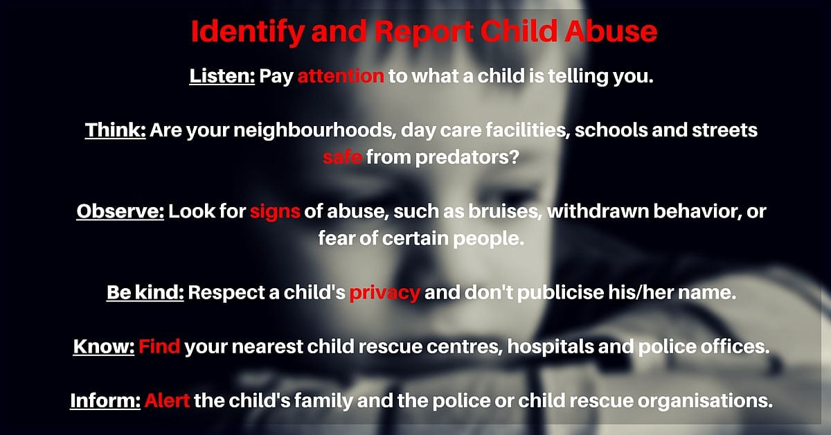 Tips on Identifying and Reporting Abuse