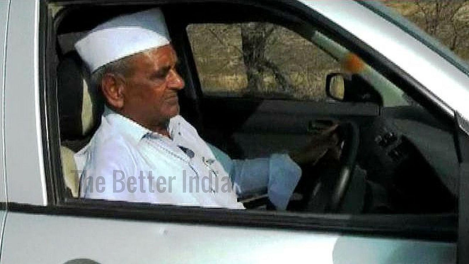 farmer driving