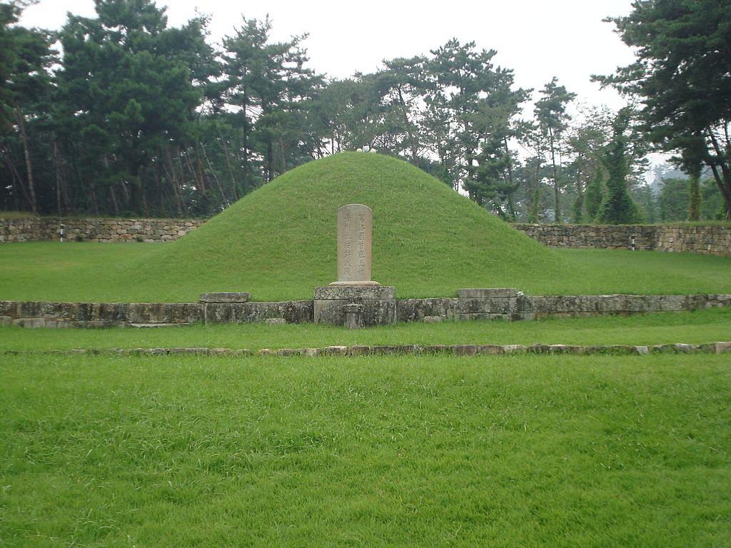 Tomb of Heo Hwang-ok in Gimhae, South Korea