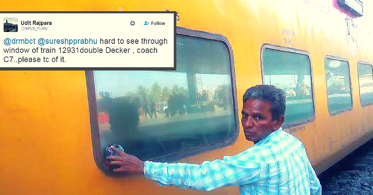 One Tweet Was All It Took for a Passenger to Get a Shiny Clean Window During the Train Journey