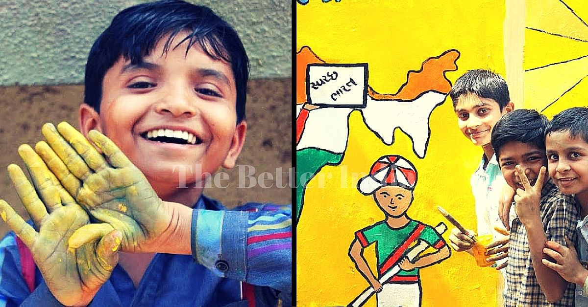 IN PHOTOS: A Bunch of Youngsters Painted the Walls of a Municipal School. And Magic Happened.