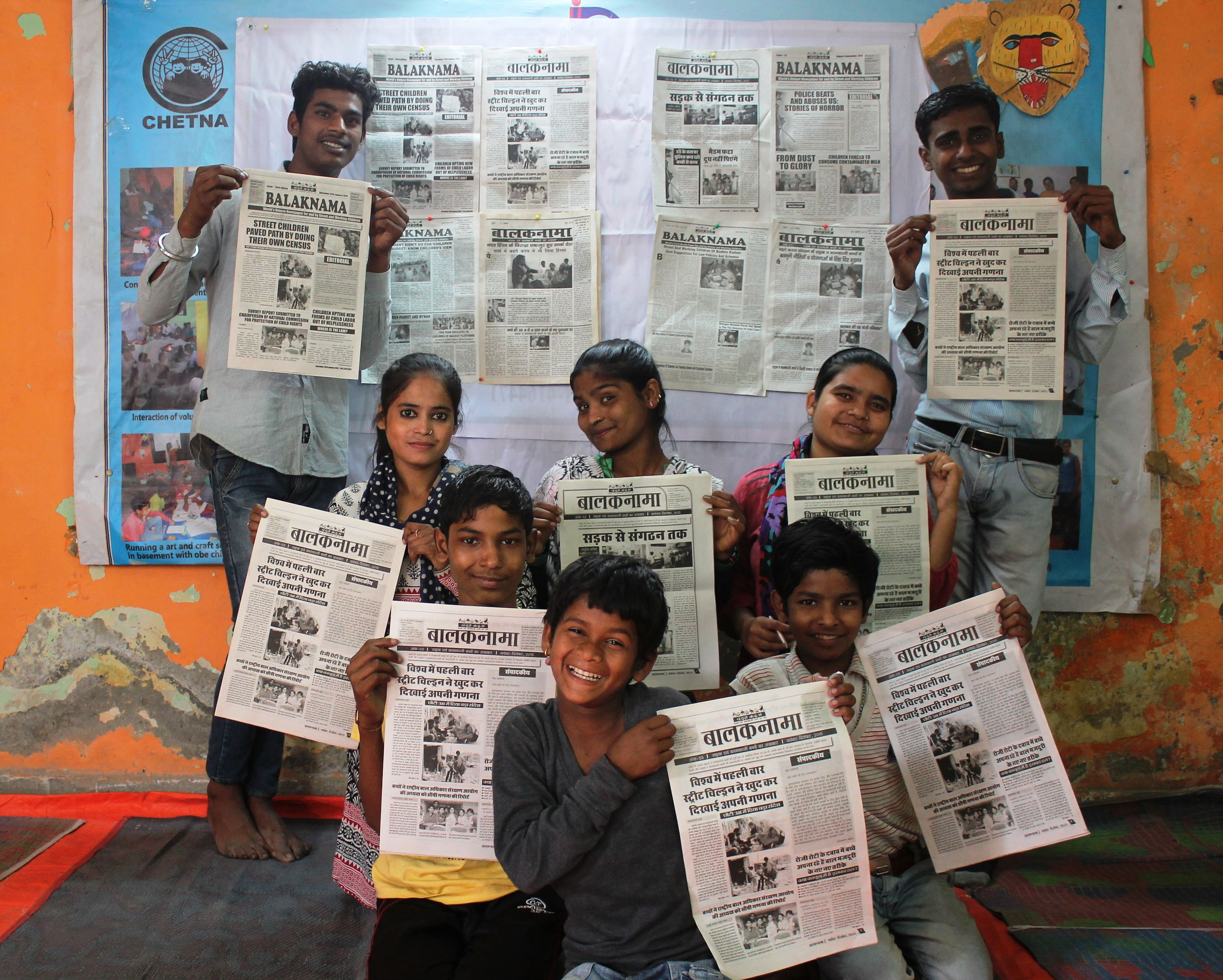 Balaknama reporters with their unique newspaper
