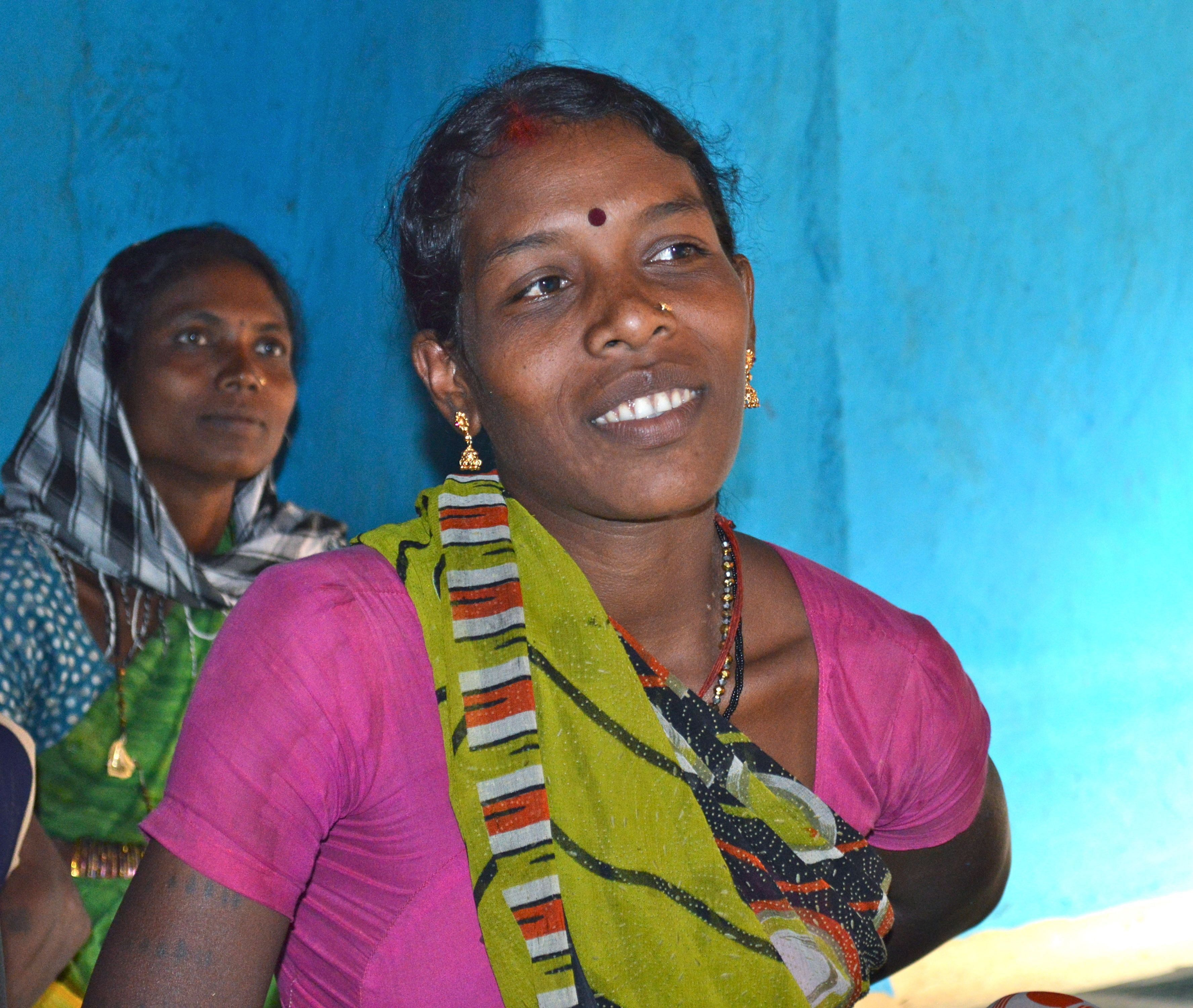 Radhika Hundra, a rice farmer in Pandarigota, now knows about her rights and entitlements under the PDS and ICDS (Integrated Child Development Services).