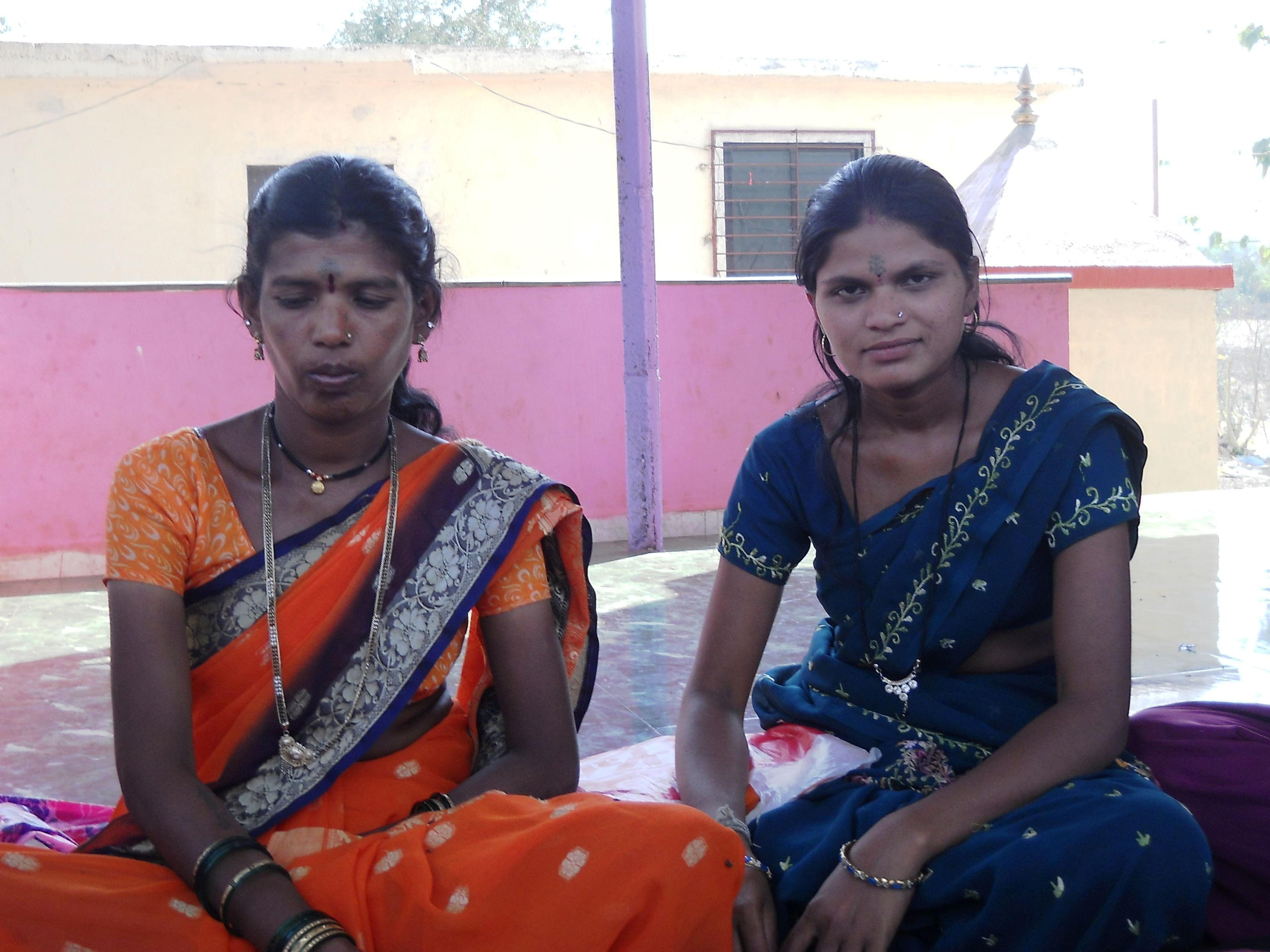 Savita Warguda (left) and Sangeeta Bhoye have been actively engaging with the local women to improve their access to water resources especially in the summer months.