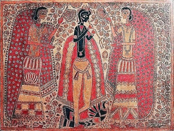 Madhubani-Krishna_&_Radha_made_by_Sita_devi