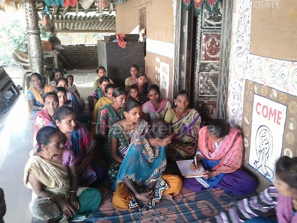 Women of a SHG in a training session