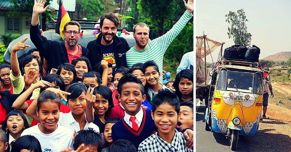 These 3 Foreigners Raised More Than Rs. 10 Lakhs for Orphans in India. By Riding a Rickshaw!