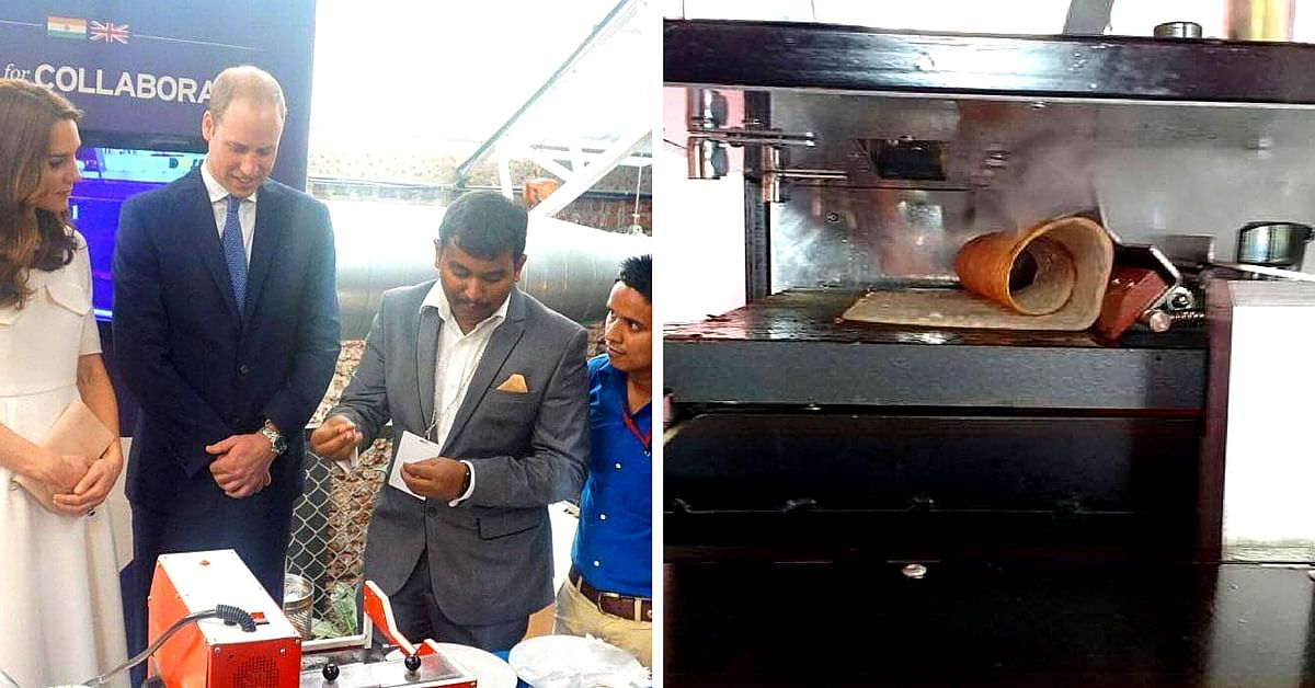 This Dosa Making Machine Invented by 24-year-olds Wowed the Royal Couple During Their India Tour