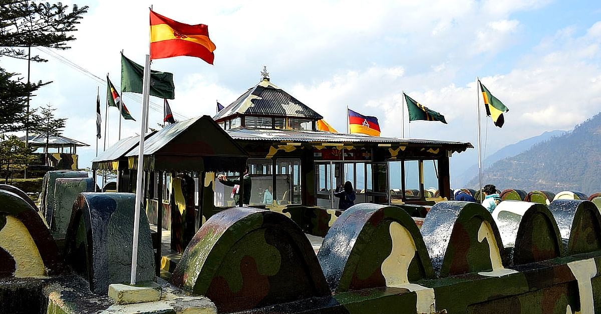 The war memorial at Jaswantgarh, Arunachal Pradesh