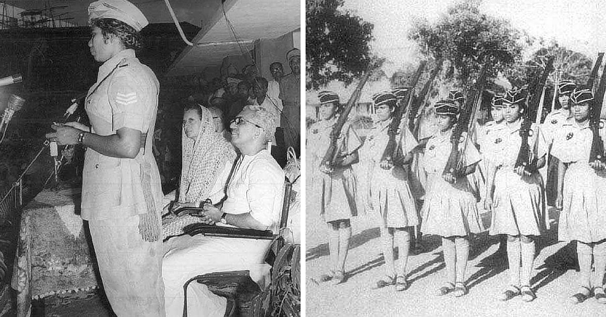 Inauguration of the all-women police force in Kerala in 1973.