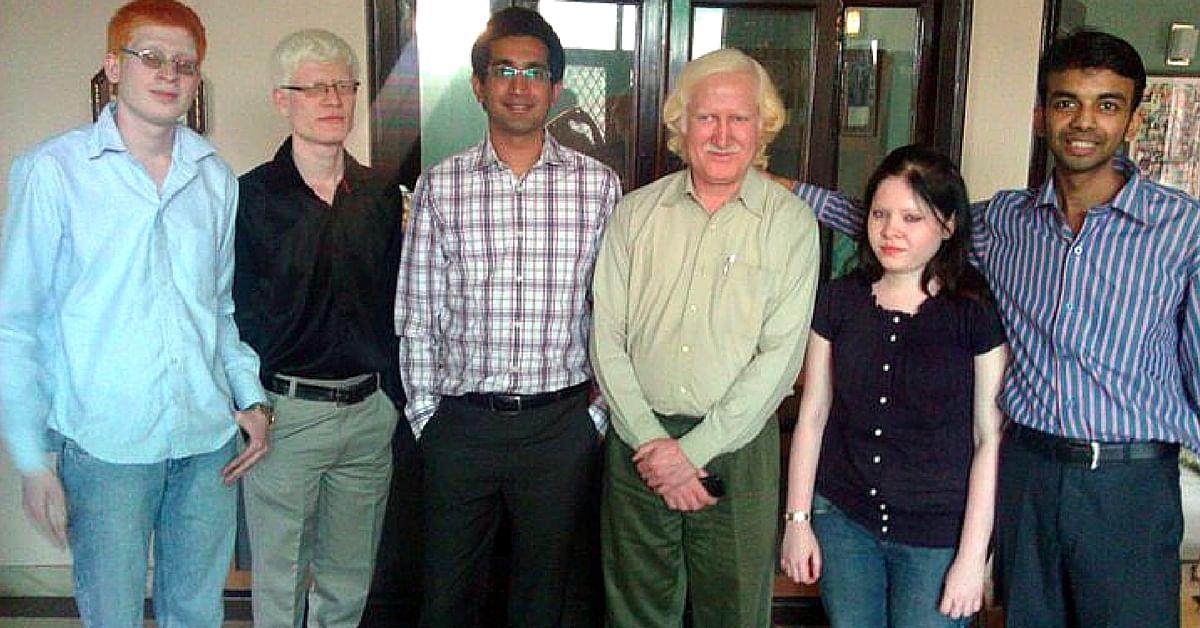 Anubhav Gupta (far right)