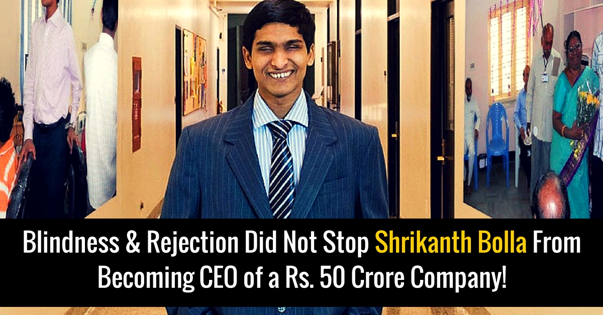 Refused by IIT, This Blind Man Went on to Become an MIT Grad and CEO of a Rs 50 Crore Company