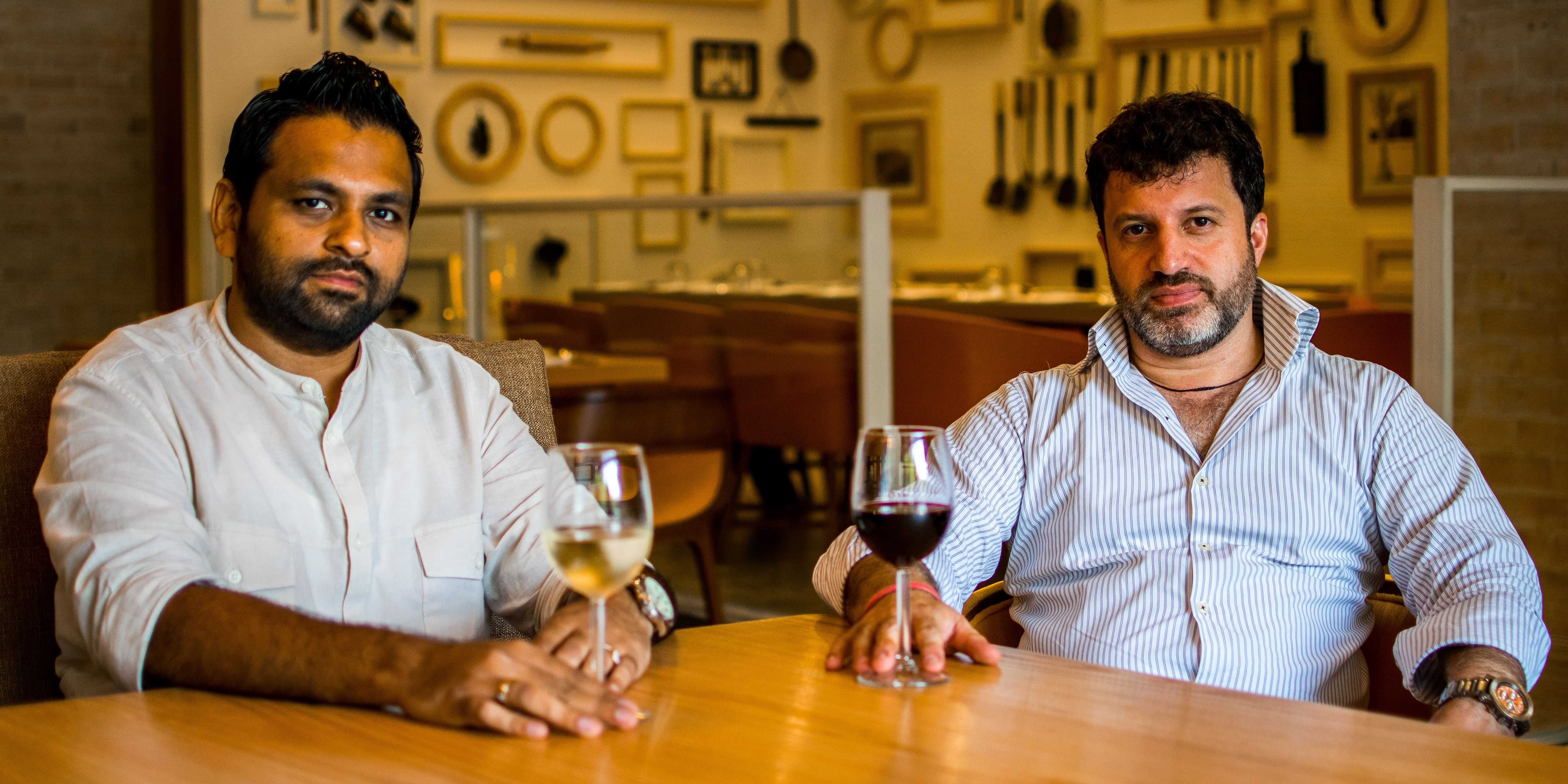 The owners - Prashant Issar and Anuj Shah