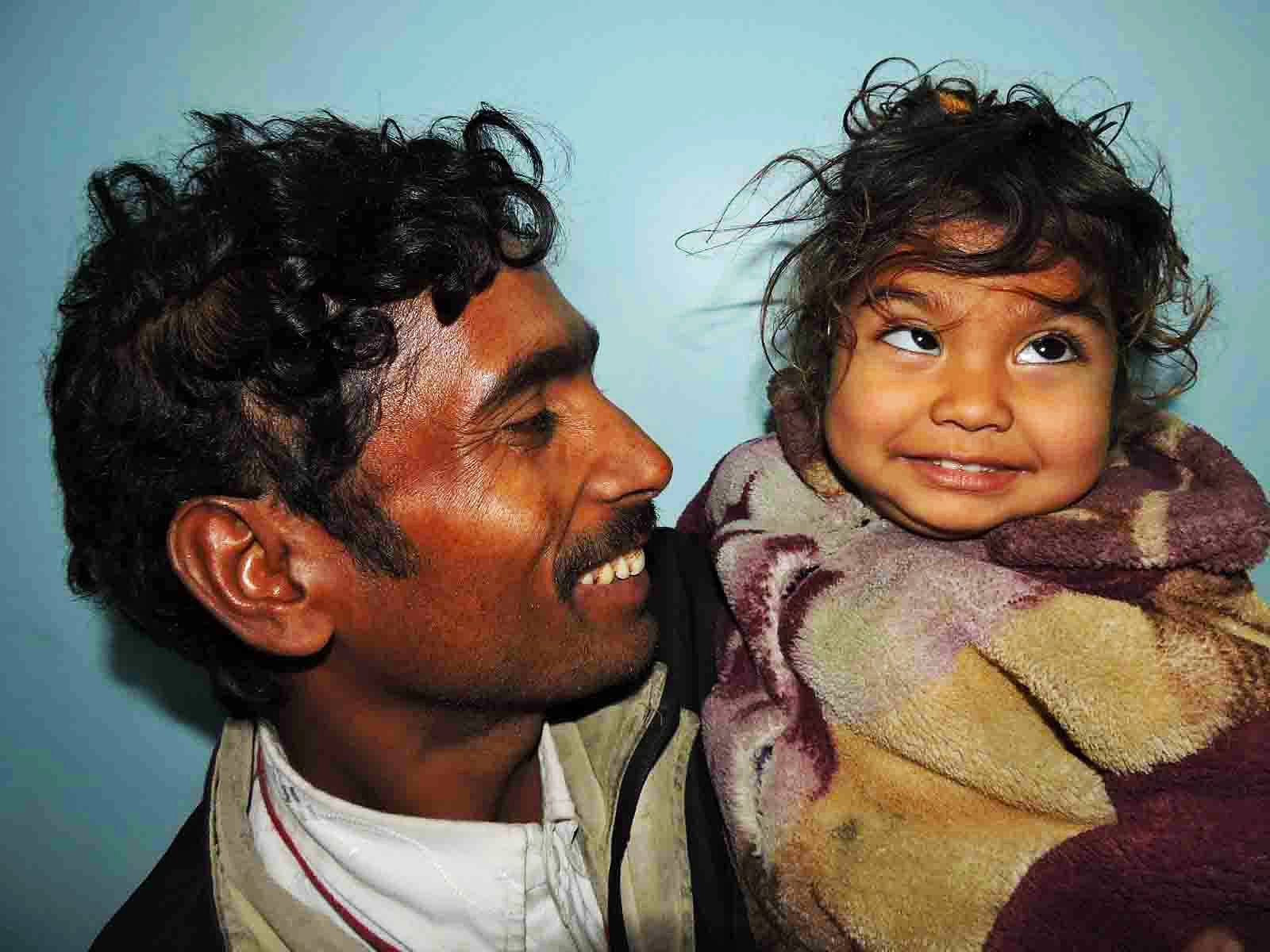 2-year-old Kanika, a beneficiary of the Akhand Jyoti Eye Hospital