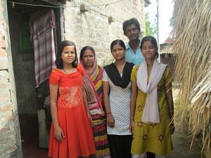 Antara and Ananya with family
