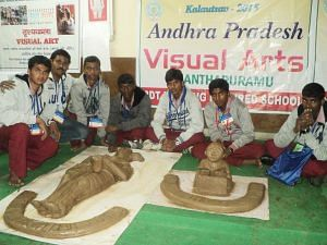 BKS Students representing Andhra Pradesh at the Clay Modelling Nationals in Delhi