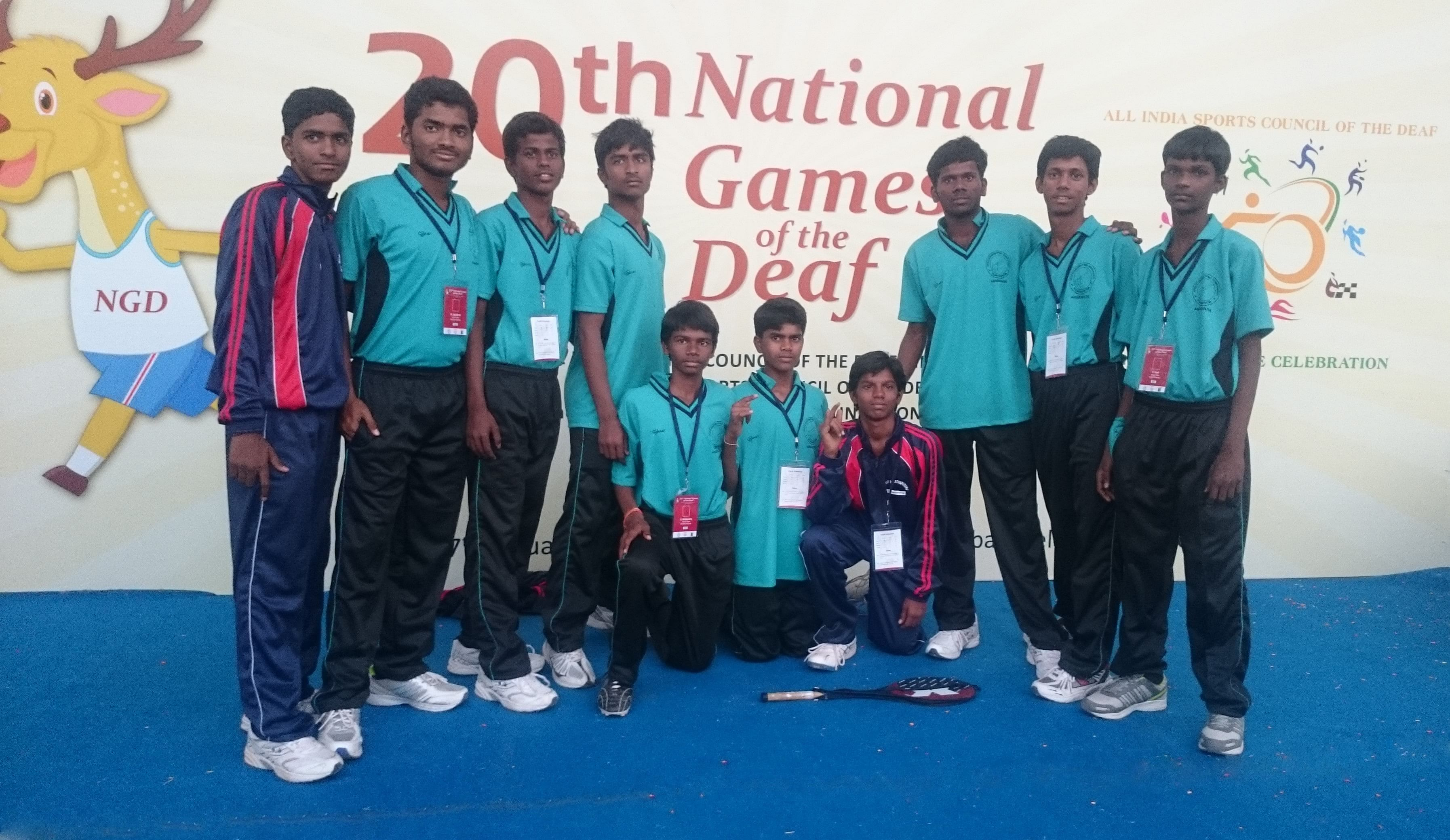 BKS Team at the 20th National Games for the Deaf in Hyderabad