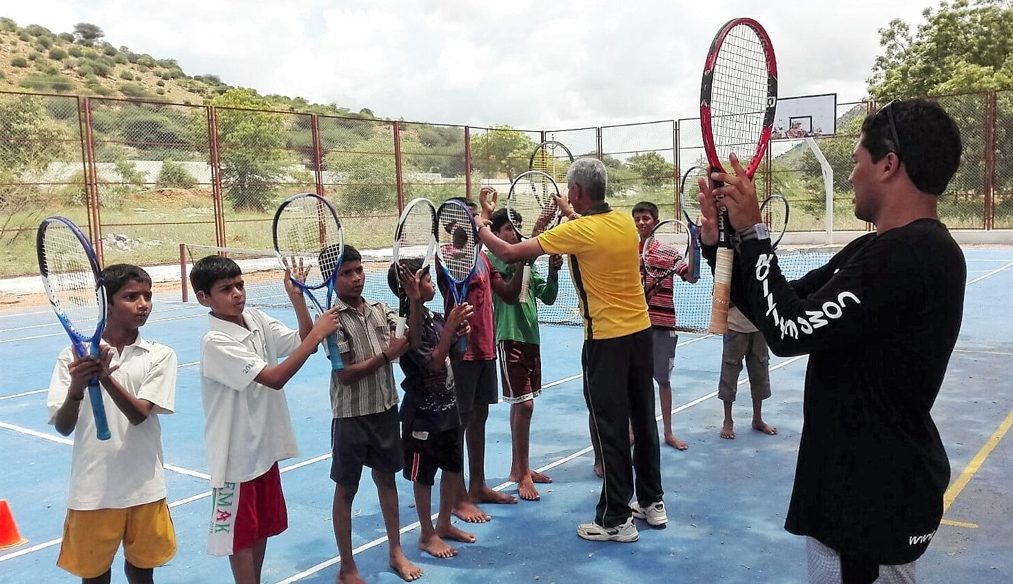 Visuals of Tennis training lessons for the Children at BKS