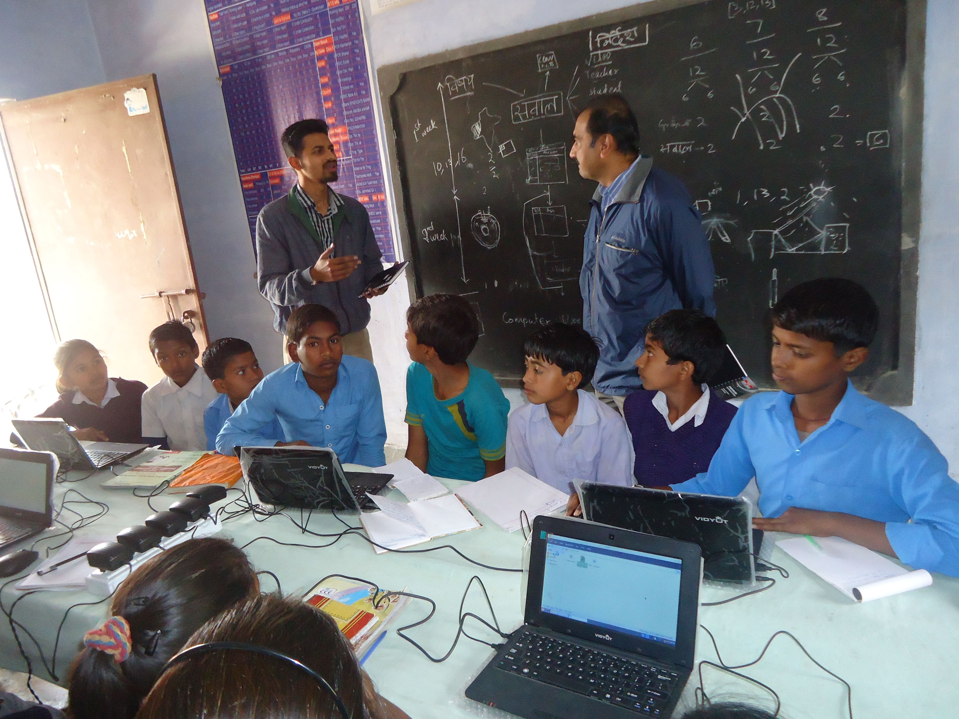 Computer Lab at Bherokhara Middle School