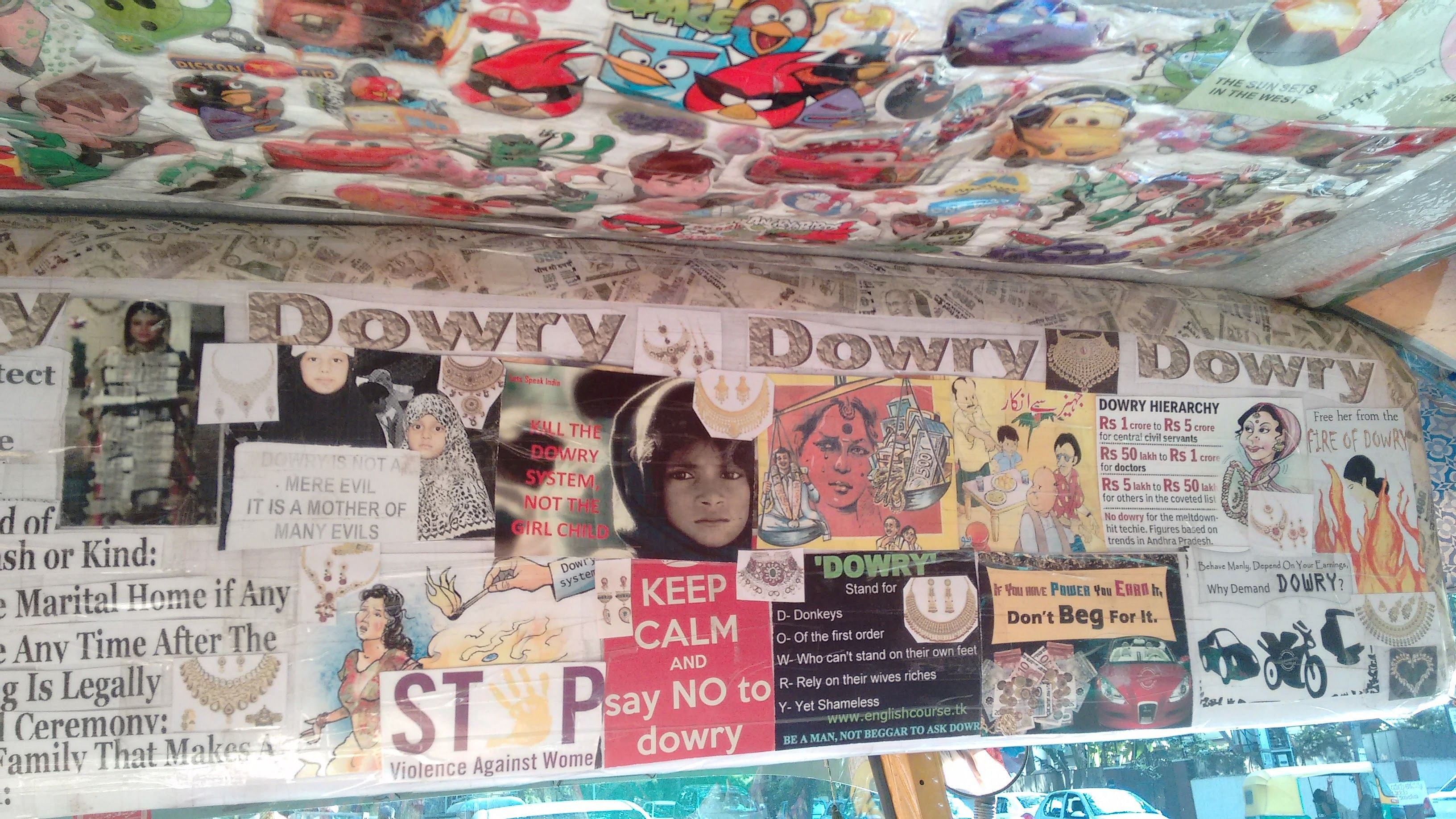 Anti-dowry posters