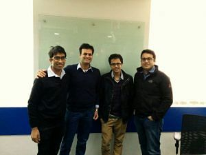 Routofy founders with Snapdeal Founders Rohit Bansal & Kunal Behl