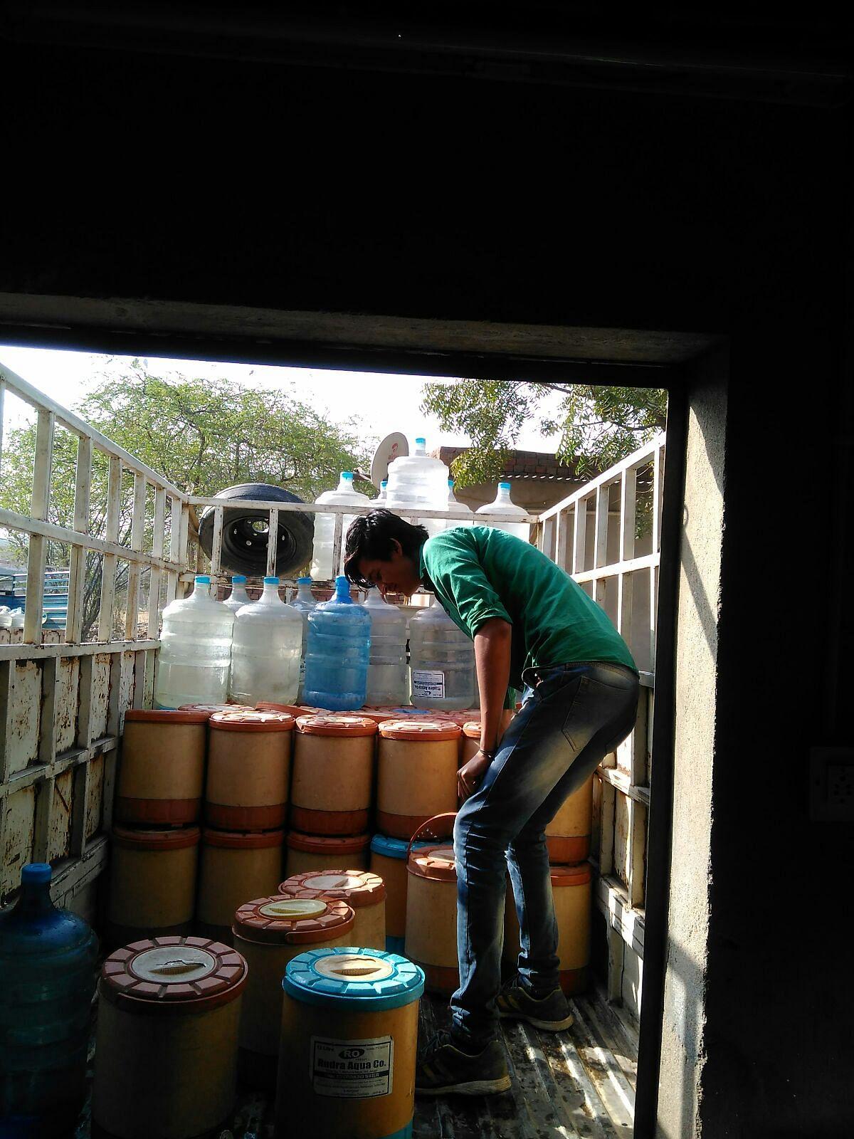 Mohsin at his current job.