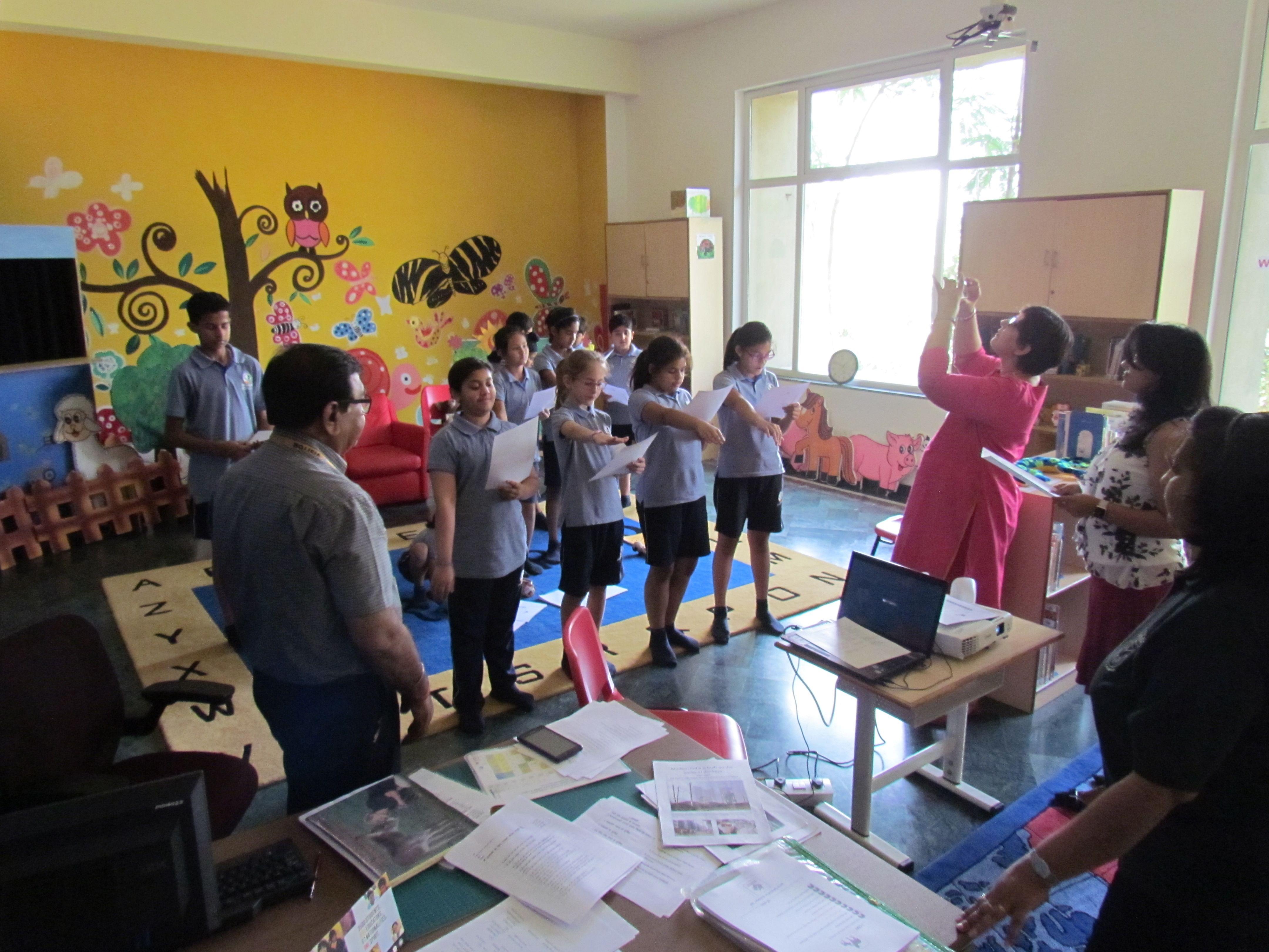 School Awareness program at Pathways, Gurgaon