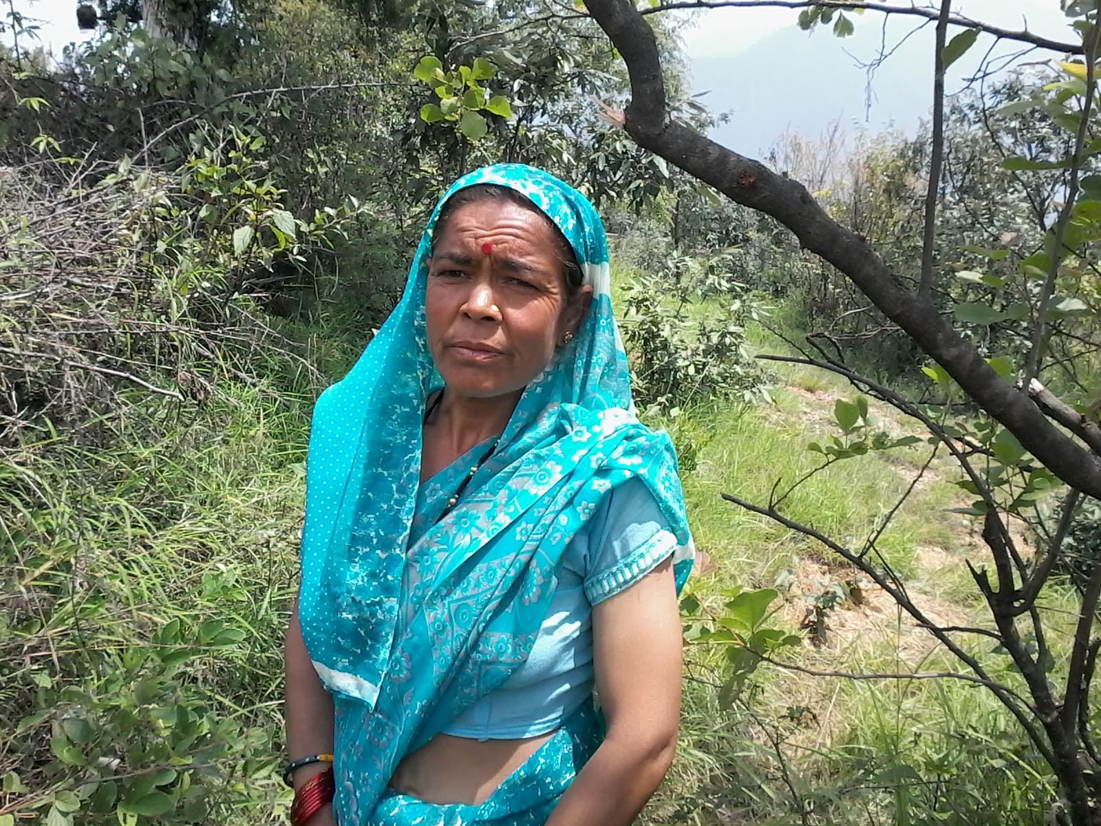Sulochana Rawat, another resident of Bagoli village, has been an active participant of the Maiti Andolan under which women plant trees to mark momentous occasions, particularly the marriage of a daughter. (Credit: Nitin Jugran Bahuguna\WFS)