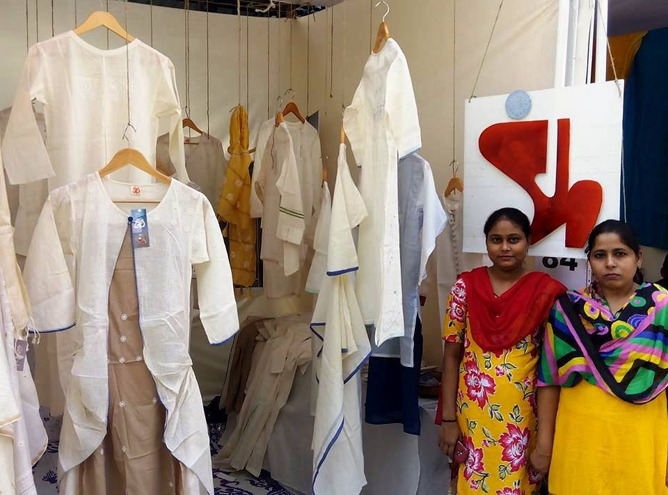 The women chikankari artisans participate in various design exhibitions in Lucknow and also independently travel to other cities across India to showcase their craft.