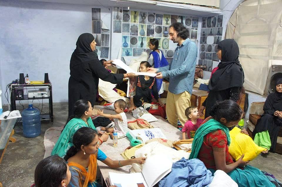 For women artisans like Tabassum, Arshi and Sheeba, Jaspal Kalra, who set up Sangraha is a teacher and facilitator.