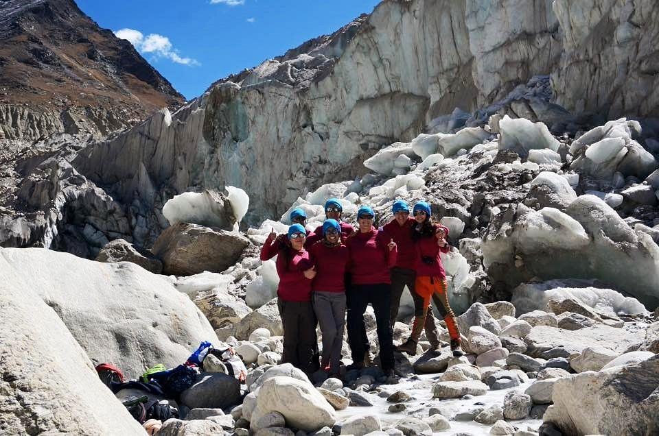 The team at at Gomukh.