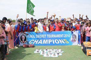 The Rural Cricket Tournament 2014 winning BKS Cricket Team