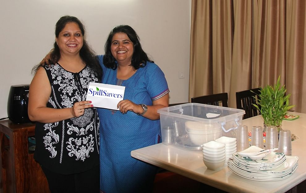 Pooja and Shalini provide clean, good quality dinnerware for parties, thus stopping a huge amount of garbage reaching the landfills of Bangalore